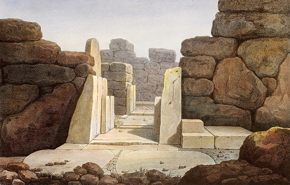 Temple Ante-Diluvien dit des Geants - Entree du Temple (1830)