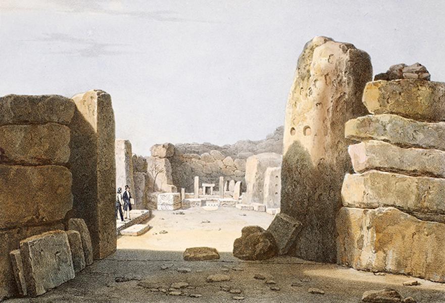 Temple Ante-Diluvien dit des Geants - Vue d'un des autels du Temple des Geants dans l'isle de Calipso découvert par l'Auteur dans sa voyage en Afrique le 15 Juillet 1827 (1830)