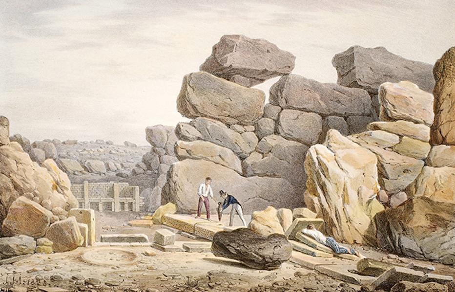 Temple Ante-Diluvien dit des Geants - Vue de l'Autel de gauche du Temple (1830)