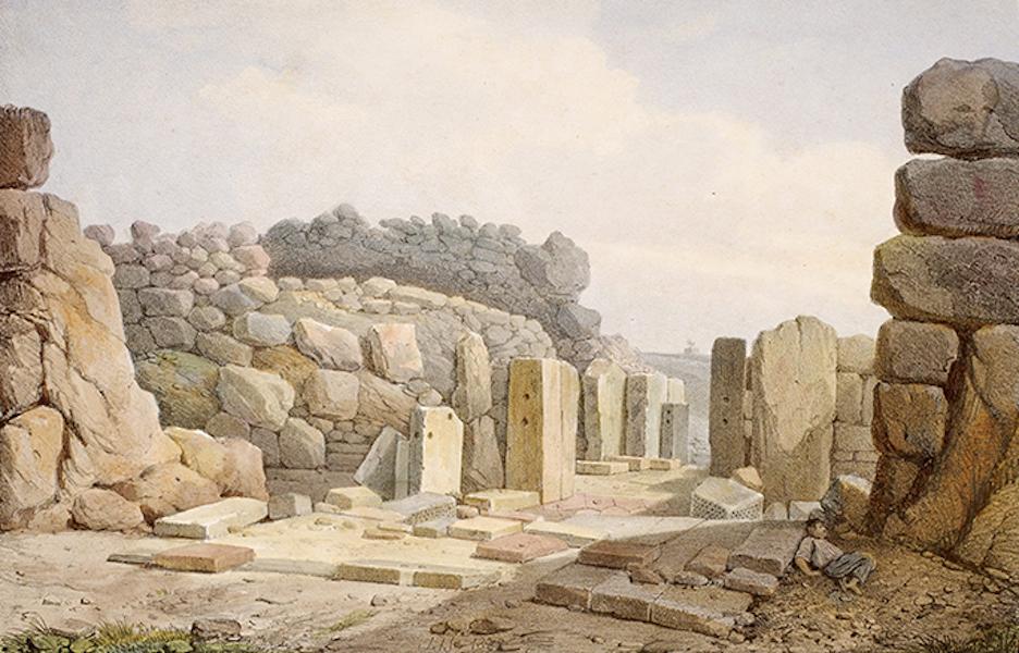 Temple Ante-Diluvien dit des Geants - Vue de la Nef du Temple des Geants prise du fond de l'Abside (1830)