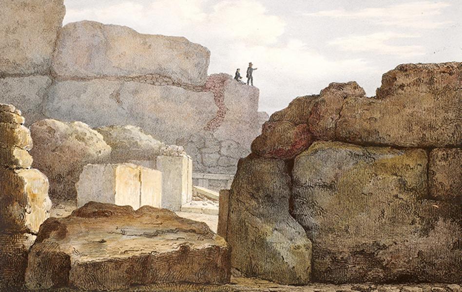 Temple Ante-Diluvien dit des Geants - Vue exterieure de l'entree du Temple (1830)