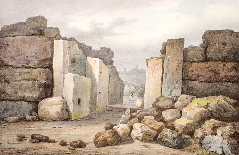 Temple Ante-Diluvien dit des Geants - Entree du Temple, prise de l'intérieur (1830)