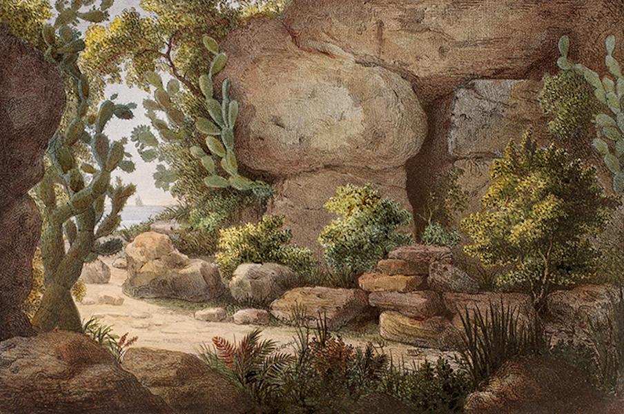 Temple Ante-Diluvien dit des Geants - Vue de la Grotte de Calypso dans l'isle de Gozo (1830)