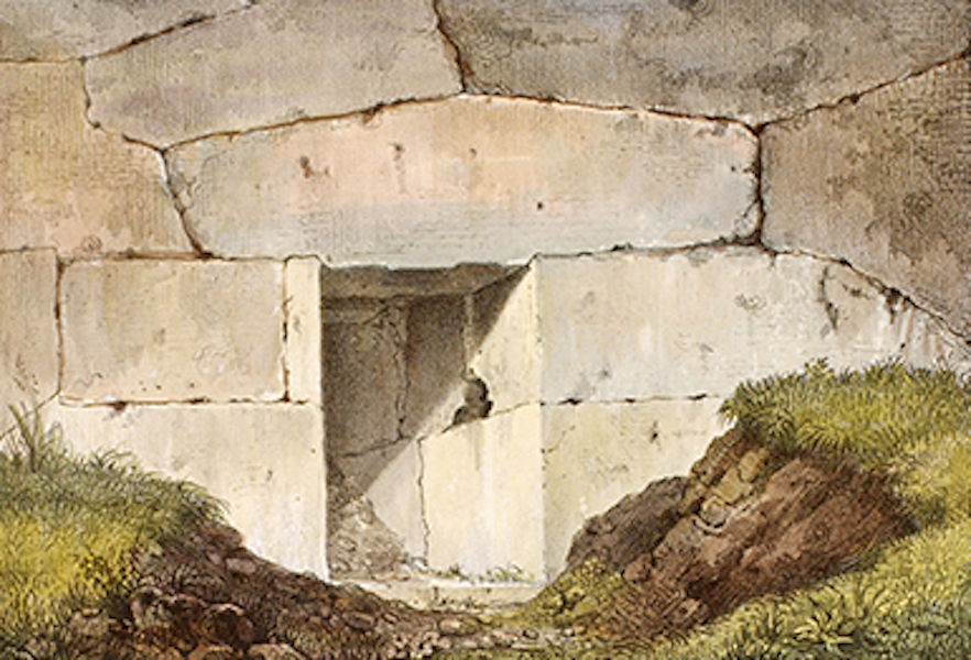 Temple Ante-Diluvien dit des Geants - Porte de la Citadelle d'Alatri dans le Latium (1830)