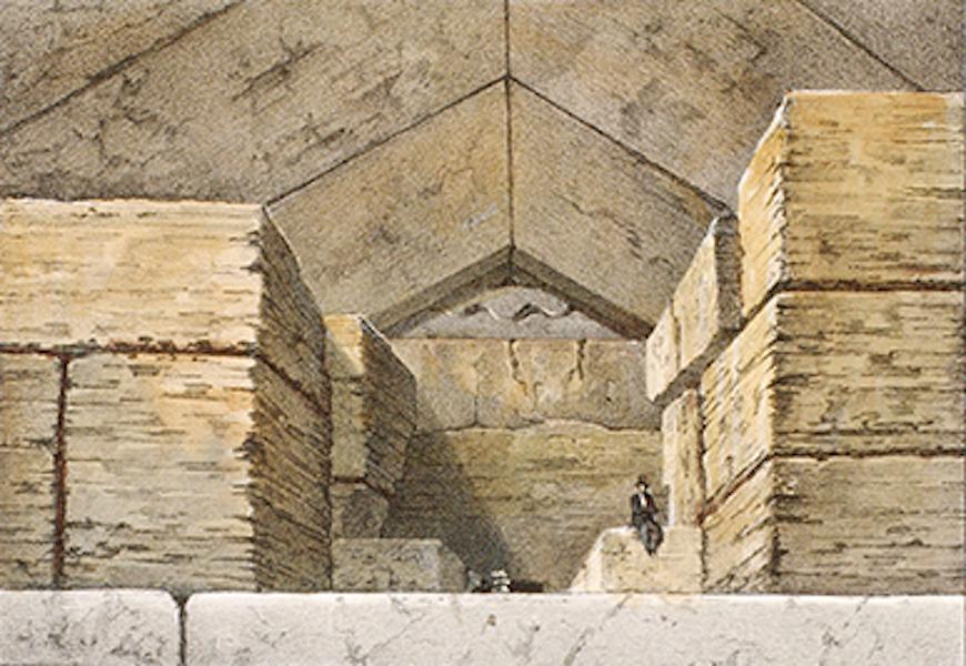 Temple Ante-Diluvien dit des Geants - Entree de la Grande Pyramide de Memphis (1830)