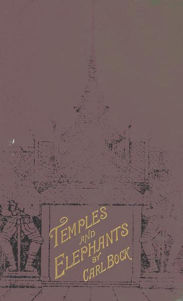 Temples and Elephants - Front Cover (1884)