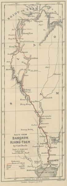 Temples and Elephants - Route from Bangkok to Kiang-Tsen (1884)