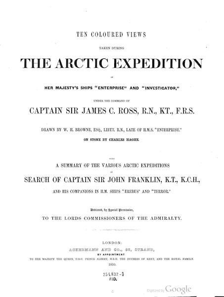 Ten Coloured Views Taken During the Arctic Expedition - Title Page (1850)
