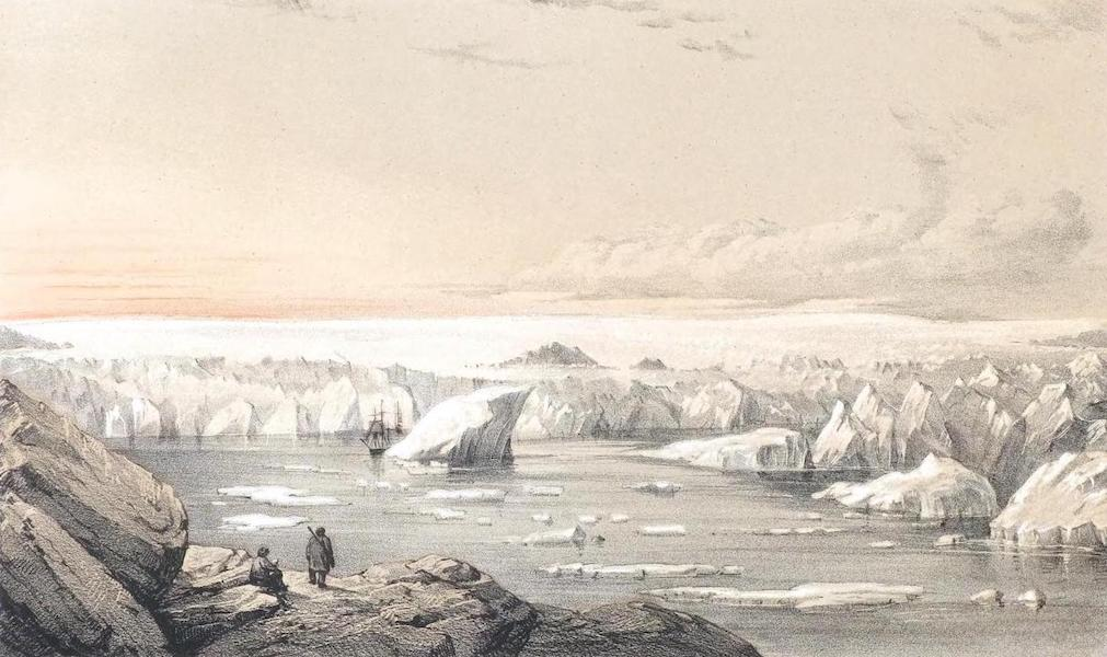 Ten Coloured Views Taken During the Arctic Expedition - Great Glacier near Uppernavik, Greenland (1850)