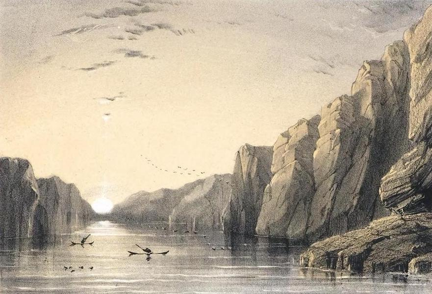 Ten Coloured Views Taken During the Arctic Expedition - Fiord near Uppernavik (1850)