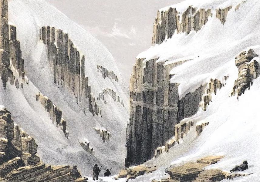 Ten Coloured Views Taken During the Arctic Expedition - Ravine near Port Leopold (1850)