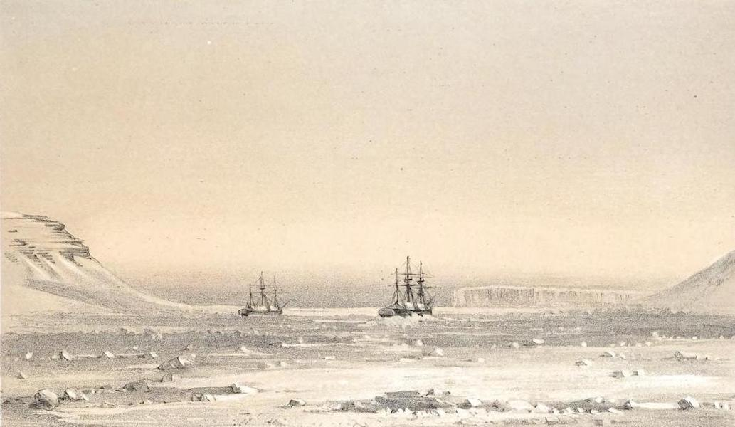 Ten Coloured Views Taken During the Arctic Expedition - Remarkable Appearance in the Sky Always Opposite the Sun, Port Leopold (1850)