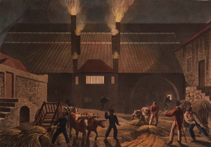 Ten Views in the Island of Antigua - Exterior of a Distillery on Weatherell's Estate, Antigua (1823)