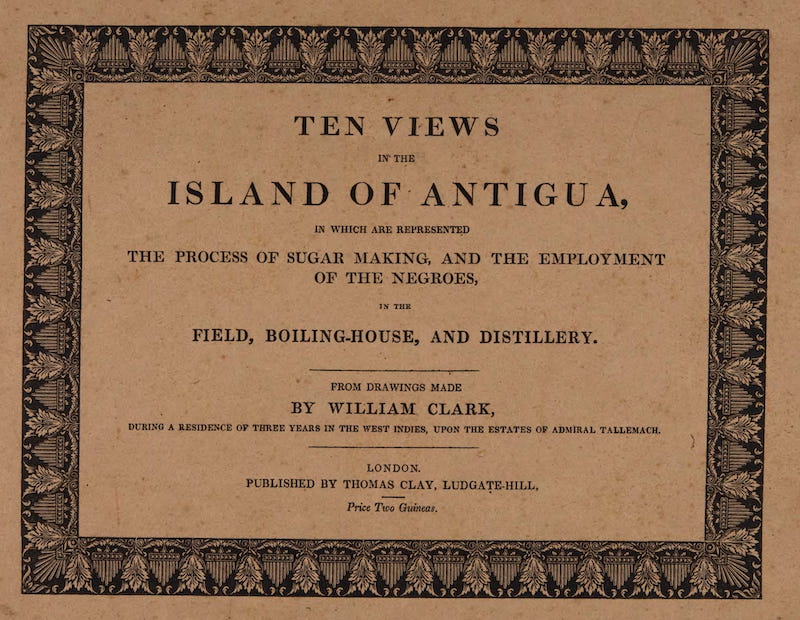 Ten Views in the Island of Antigua - Title Page (1823)