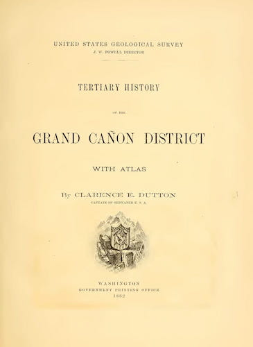 Geology - Tertiary History of the Grand Canon [Text]