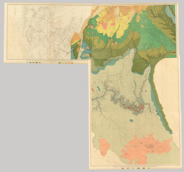 Tertiary History of the Grand Canon [Atlas] - Geologic map sheets XX-XXIII [Composite] (1882)