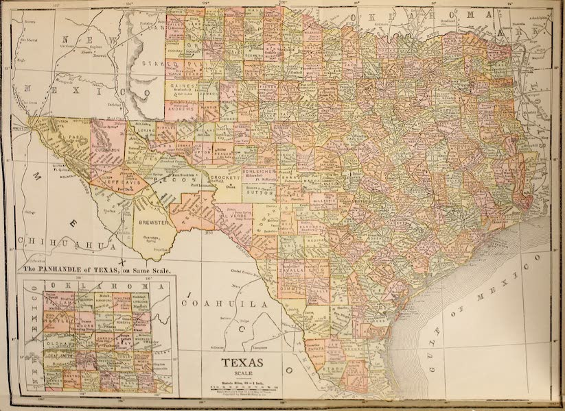 Texas, the Marvellous, the State of the Six Flags - Map of Texas (1916)