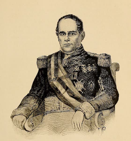 Texas, the Marvellous, the State of the Six Flags - General Santa Anna, from an Old Etching (1916)