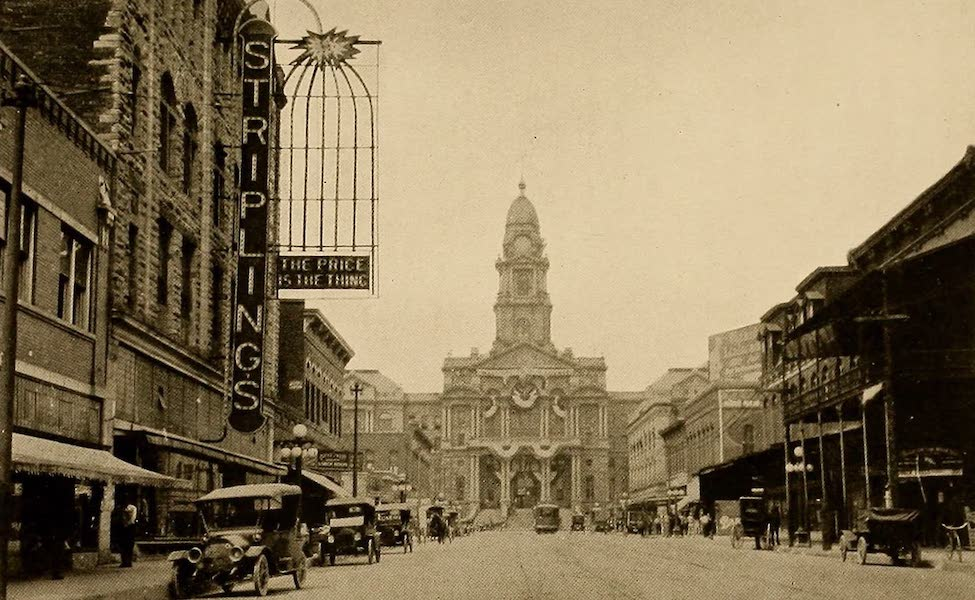Texas, the Marvellous, the State of the Six Flags - Tarrant County Court House, Fort Worth (1916)