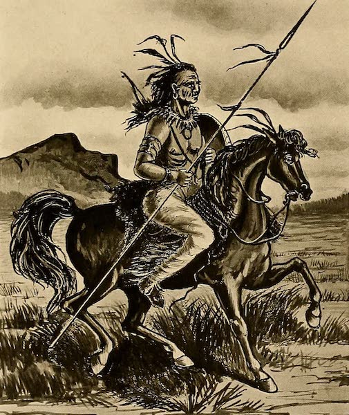 Texas, the Marvellous, the State of the Six Flags - A Comanche Warrior (1916)