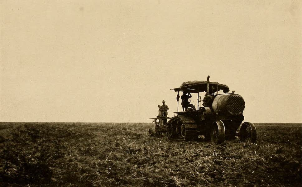 Texas, the Marvellous, the State of the Six Flags - Tractor at Work on the Prairie (1916)