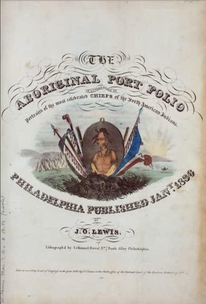 The Aboriginal Port Folio - Title Page (1836)
