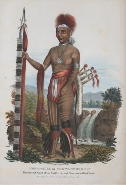 The Aboriginal Port Folio - Kee-o-kuck or the Watching Fox, the present Chief of the Sank tribe and Successor to Black Hawk (1836)