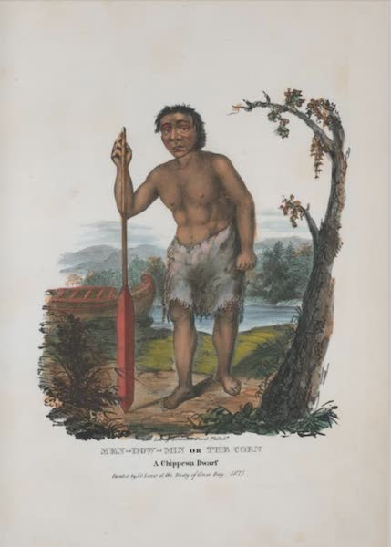 The Aboriginal Port Folio - Men-dow-min or the Corn, a Chippewa dwarf (1836)