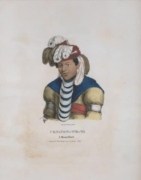 The Aboriginal Port Folio - Pen-now-we-ta, a Miami Chief (1836)