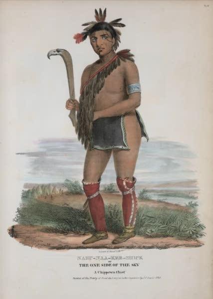 The Aboriginal Port Folio - Nabu-naa-ke-shick or the One Side of the Sky, a Chippewa Chief (1836)