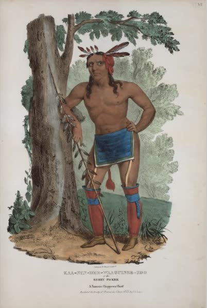 The Aboriginal Port Folio - Kaa-nun-der-waaguinse-zoo or the Berry Picker, a famous Chippewa Chief (1836)