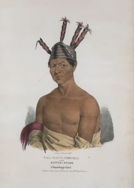 The Aboriginal Port Folio - Waa-kaun-see-kaa, or the Rattle-Snake, a Winnebago Chief (1836)