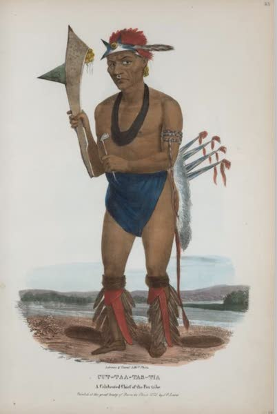 The Aboriginal Port Folio - Cut-taa-tas-tia, a celebrated Chief of the Fox tribe (1836)