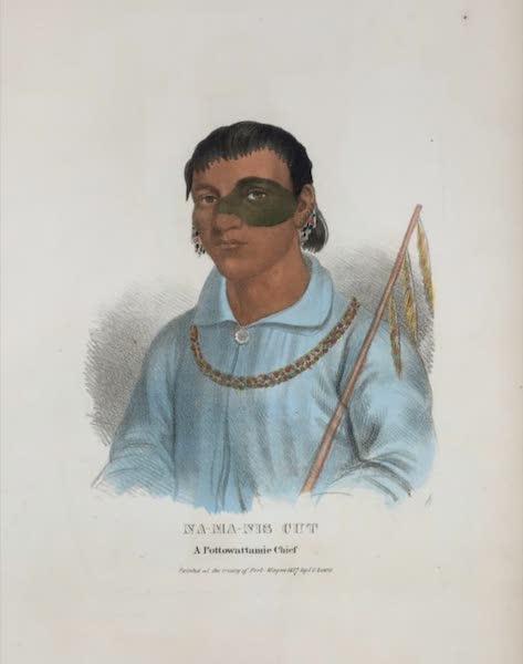 The Aboriginal Port Folio - Na-ma-nis Cut, a Pottowattamie Chief (1836)
