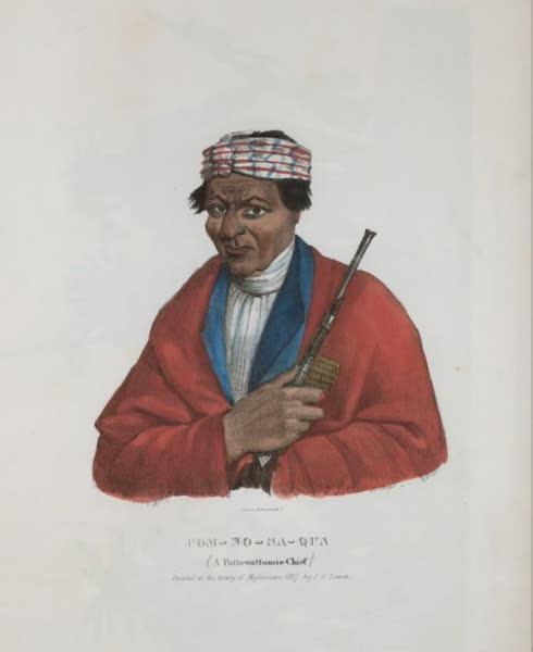 The Aboriginal Port Folio - Com-no-sa-qua, a Pottowattomie Chief (1836)