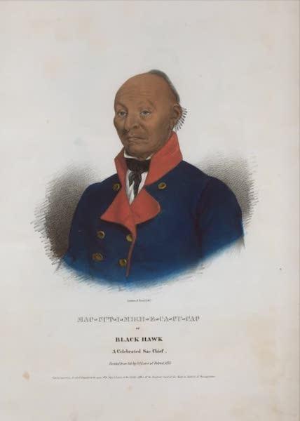 The Aboriginal Port Folio - Mac-cut-i-mish-e-ca-cu-cac or Black Hawk, a celebrated Sac Chief (1836)