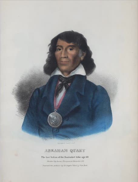The Aboriginal Port Folio - Abraham Quary, the last Indian of the Nantucket tribe age 64 (1836)