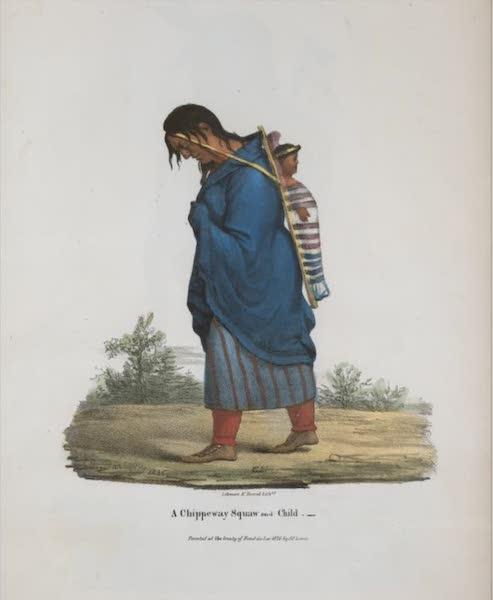 The Aboriginal Port Folio - A Chippeway squaw and child (1836)