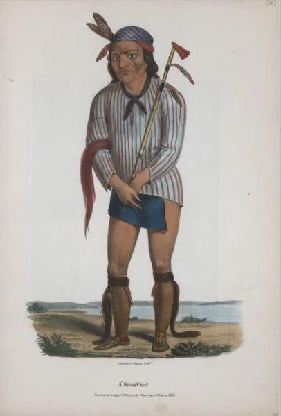 The Aboriginal Port Folio - A Sioux Chief (1836)