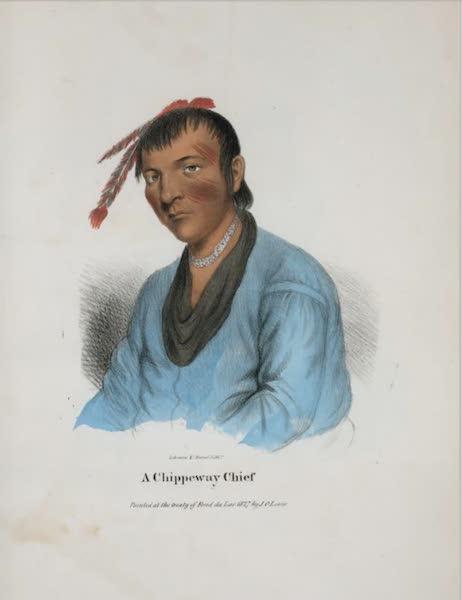 The Aboriginal Port Folio - A Chippeway Chief (1836)