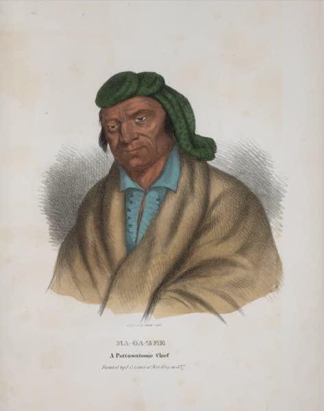 The Aboriginal Port Folio - Ma-ga-zee, a Pottawatomie Chief (1836)
