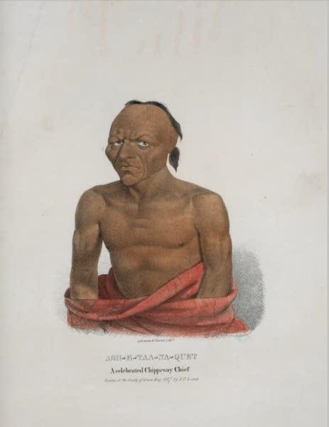 The Aboriginal Port Folio - Ash-e-taa-na-quet, a celebrated Chippeway Chief (1836)