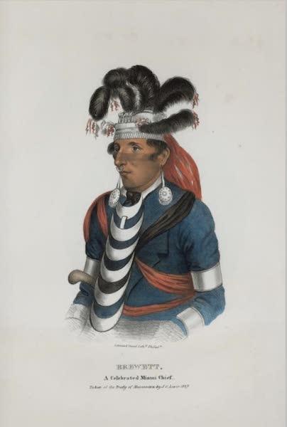 The Aboriginal Port Folio - Brewett, a celebrated Miami Chief (1836)