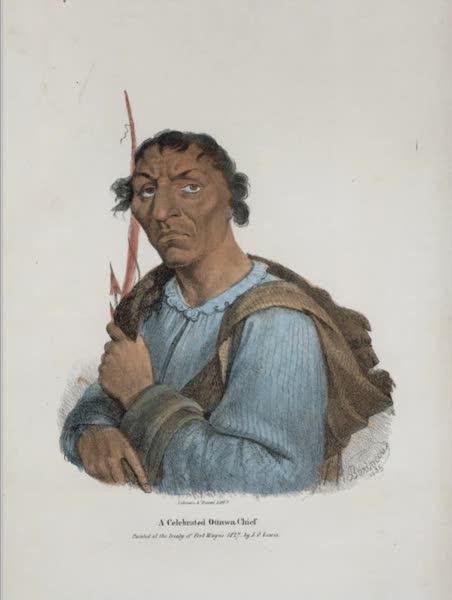 The Aboriginal Port Folio - A celebrated Ottawa Chief (1836)