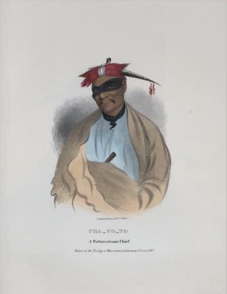 The Aboriginal Port Folio - Cha-co-to, a Pottawatomie Chief (1836)