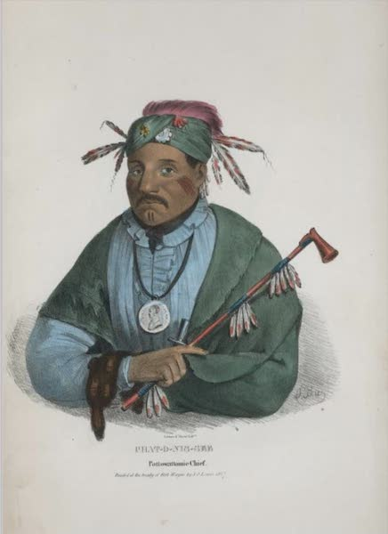 The Aboriginal Port Folio - Chat-o-nis-see, Pottowattomie Chief (1836)