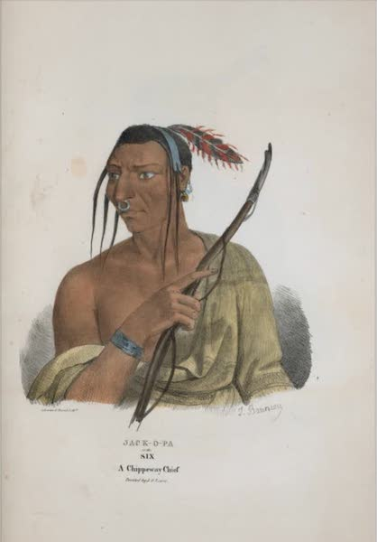 The Aboriginal Port Folio - Jack-o-pa or the Six, a Chippeway Chief (1836)