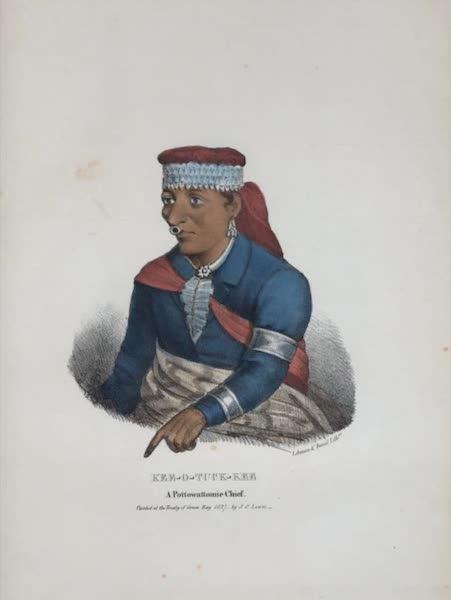 The Aboriginal Port Folio - Kee-o-tuck-kee, a Pottowattomie Chief (1836)