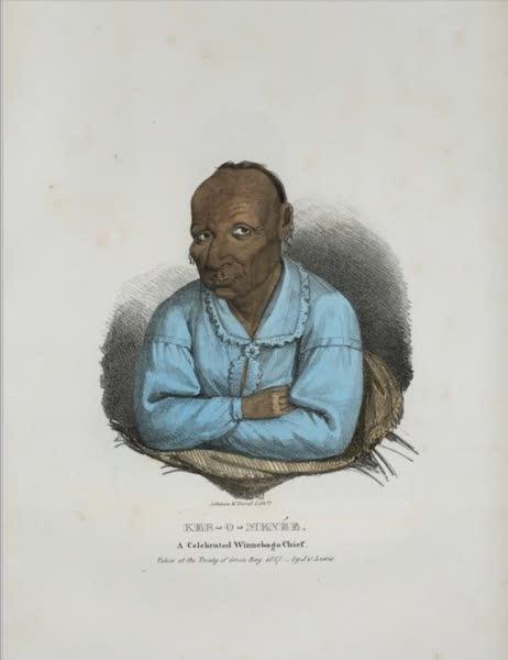 The Aboriginal Port Folio - Ker-o-menée, a celebrated Winnebago Chief (1836)