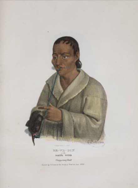 The Aboriginal Port Folio - Ke-wa-din or the North Wind, Chippeway Chief (1836)